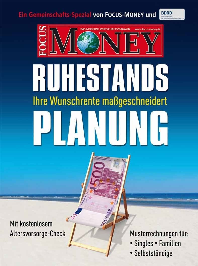 "FOCUS-MONEY ""Ruhestandsplanung"""