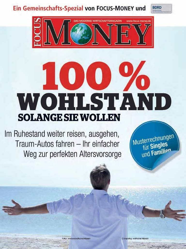 "FOCUS-MONEY ""100 % Wohlstand"""